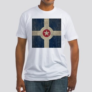 Vintage Indianapolis Flag Fitted T-Shirt
