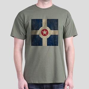 Vintage Indianapolis Flag Dark T-Shirt