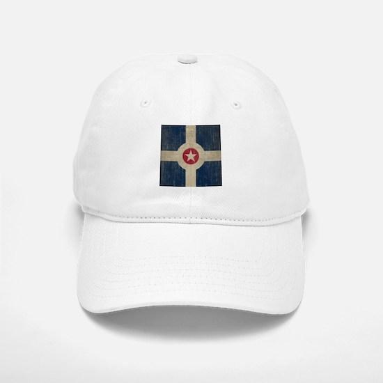 Vintage Indianapolis Flag Baseball Baseball Cap