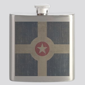 Vintage Indianapolis Flag Flask