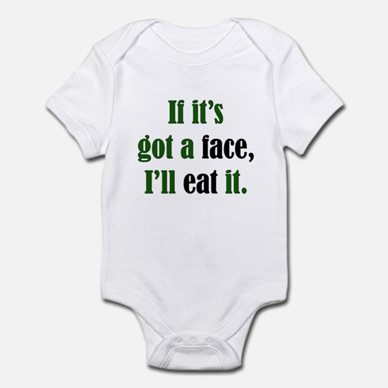 I'll Eat Faces Infant Creeper