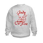 Judy On Fire Kids Sweatshirt