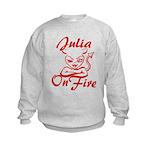 Julia On Fire Kids Sweatshirt