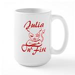 Julia On Fire Large Mug