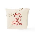 Julie On Fire Tote Bag