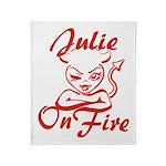 Julie On Fire Throw Blanket