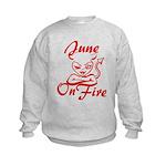 June On Fire Kids Sweatshirt