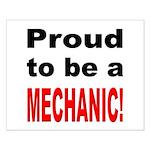 Proud Mechanic Small Poster