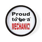 Proud Mechanic Wall Clock