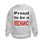 Proud Mechanic (Front) Kids Sweatshirt