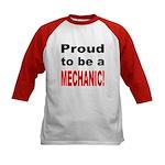 Proud Mechanic (Front) Kids Baseball Jersey