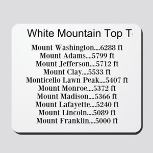 White Mountain Top Ten List Mousepad