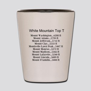 White Mountain Top Ten List Shot Glass