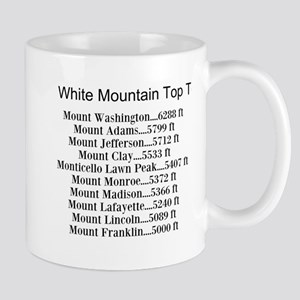 White Mountain Top Ten List Mug