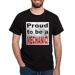 Proud Mechanic (Front) Black T-Shirt