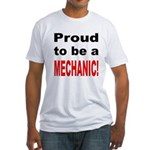 Proud Mechanic (Front) Fitted T-Shirt