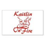 Kaitlin On Fire Sticker (Rectangle)