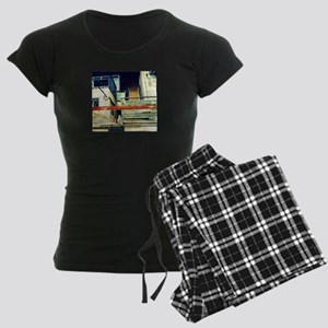 David Yellin Street Cat 02 Women's Dark Pajamas