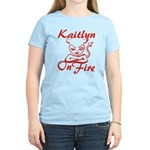 Kaitlyn On Fire Women's Light T-Shirt