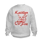 Kaitlyn On Fire Kids Sweatshirt