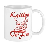 Kaitlyn On Fire Mug