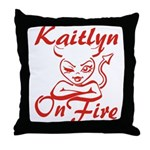 Kaitlyn On Fire Throw Pillow