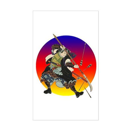 Sun Samurai Rectangle Sticker