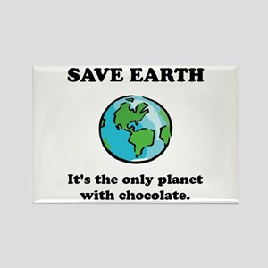 Save Earth Chocolate Black Magnets