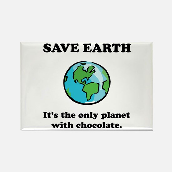 Save Earth Chocolate Black.png Magnets