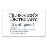 Film Dictionary: All Good! Rectangle Sticker