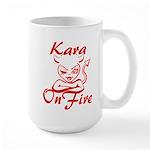 Kara On Fire Large Mug
