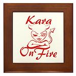 Kara On Fire Framed Tile