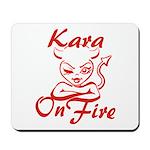 Kara On Fire Mousepad