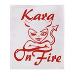 Kara On Fire Throw Blanket