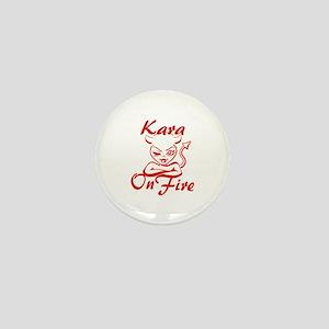 Kara On Fire Mini Button