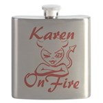 Karen On Fire Flask