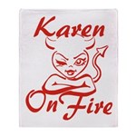 Karen On Fire Throw Blanket