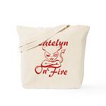 Katelyn On Fire Tote Bag