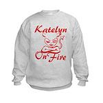 Katelyn On Fire Kids Sweatshirt