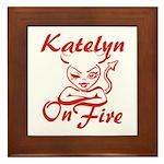 Katelyn On Fire Framed Tile