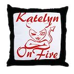 Katelyn On Fire Throw Pillow
