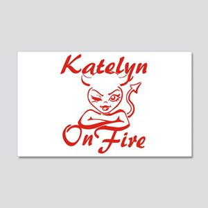 Katelyn On Fire 20x12 Wall Decal