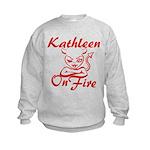 Kathleen On Fire Kids Sweatshirt
