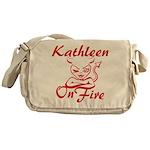 Kathleen On Fire Messenger Bag