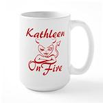 Kathleen On Fire Large Mug