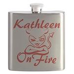 Kathleen On Fire Flask