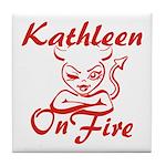 Kathleen On Fire Tile Coaster