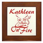 Kathleen On Fire Framed Tile