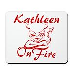 Kathleen On Fire Mousepad
