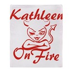 Kathleen On Fire Throw Blanket